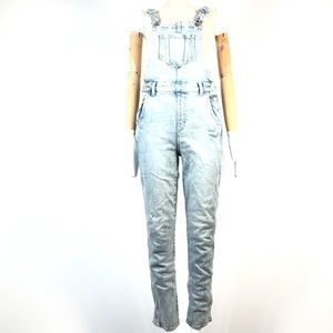 Old navy denim overall jeans 4 tall